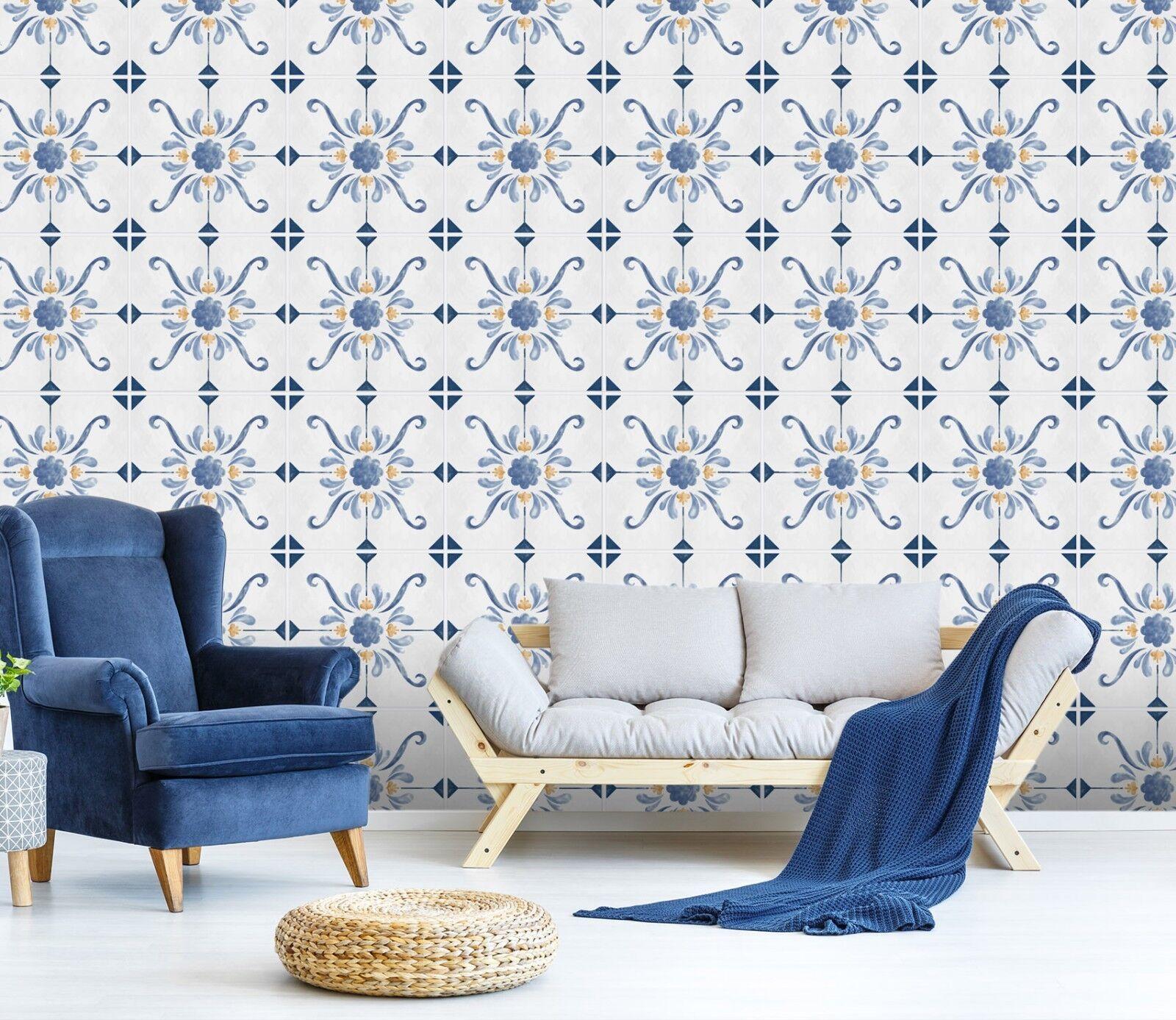 3D bluee Art Floral 223 Wallpaper Mural Print Wall Indoor Wallpaper Murals UK