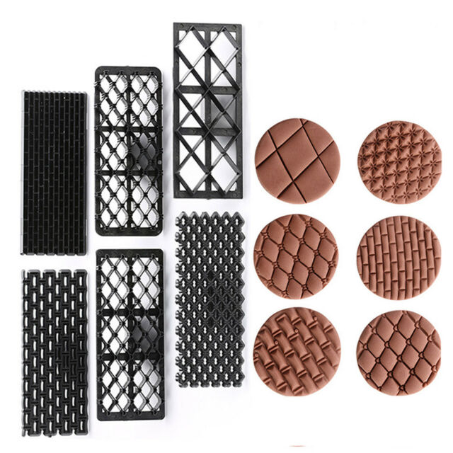 6pcs Fondant Embosser Mold Cookie Biscuit Pastry Baking Tools Cake Decorating T