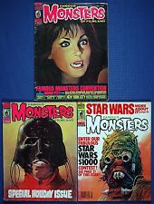 Warren 6 Iss. FAMOUS MONSTERS OF FILMLAND #122, 123, 147, 204, 223, 224 VG-Fine