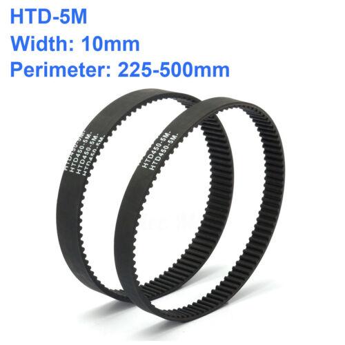 HTD 5M Close Timing Belt Rubber Drive Belt 10mm Width 225~500mm Perimeter New