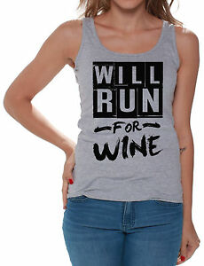 28f4454902ecc Gym Tank Tops Will Run For Wine Women s Funny Running Saying