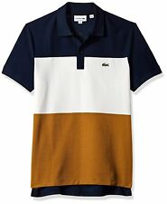2282848f Lacoste Men's Tennis Short Sleeve Super Light Color Block Polo White ...