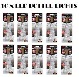 10 x vis DEL Blanc Bouteille Lumière Liège Forme étoilée valentine mariage anniversaire