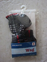 Simply Wag Black & Red Fleece Booties Puppy/dog Small