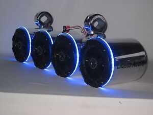Kicker Pol Led S Double Wakeboard Boat Tower Speakers