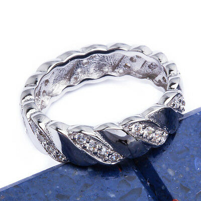 NEW CZ HIGH FASHION BAND .925 Sterling Silver Ring SIZES 6-9