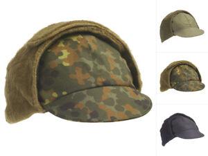 Bundeswehr Wintermütze flecktarn oliv gebraucht BW Mütze Militaria Kopfbedeckungen & Helme