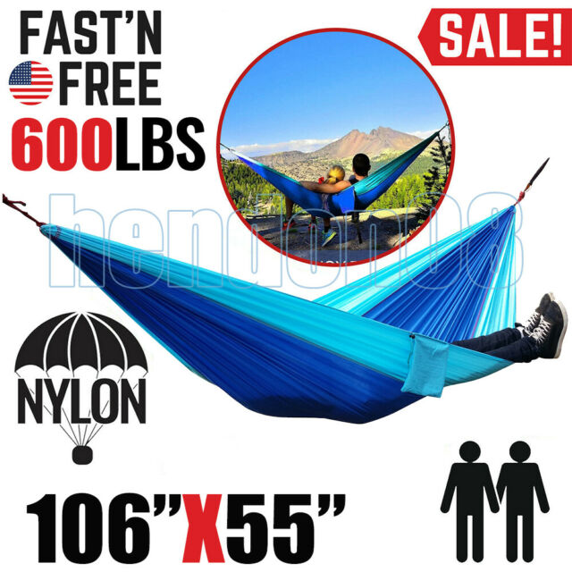 Travel Double Parachute Hammock Outdoor Camping Hammock Up To 600lbs *NEW FAST!