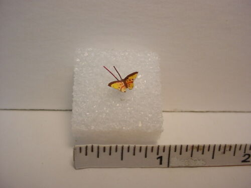 Terry Harville Dollhouse Miniature Yellow Butterfly Handcrafted