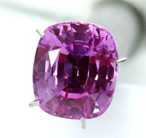 5.15 Ct Natural Pink Sapphire Cushion Cut Certified Gemstone Best Quality AAA+