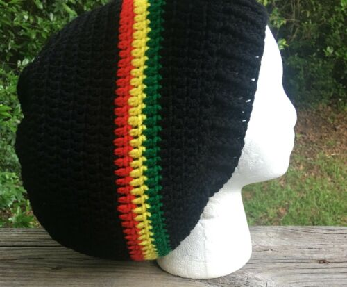 Multiple size Rasta dreads dreadlocks slouch beanie tam hat