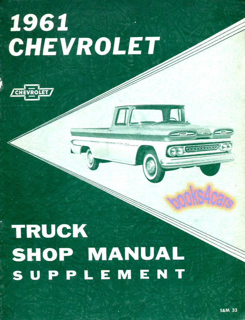 1961 Chevy Truck Repair Shop Manual Supplement Chevrolet 61 Ebay Wiring Diagram