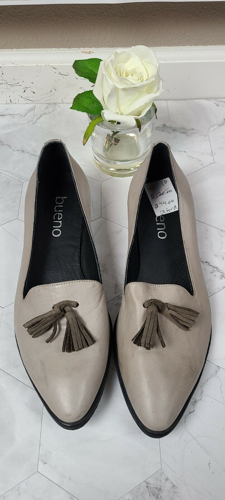 NEW Bueno Slip on Loafer Oxfords Gray SZ 41 US 10 Comfort