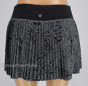 d7b884e211 NEW LULULEMON Pleat To Street Skirt II 8 10 Watermark Slate Black ...