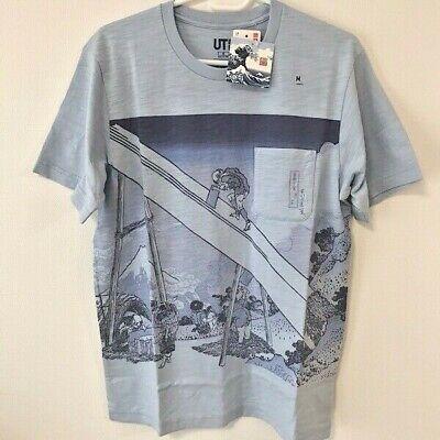 Uniqlo UT Hokusai Blue Mannen Bridge Fukagawa Mens T Shirt New (Size XS XL) | eBay