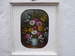 Bunch-of-Flowers-Still-Life-Oil-On-Cardboard