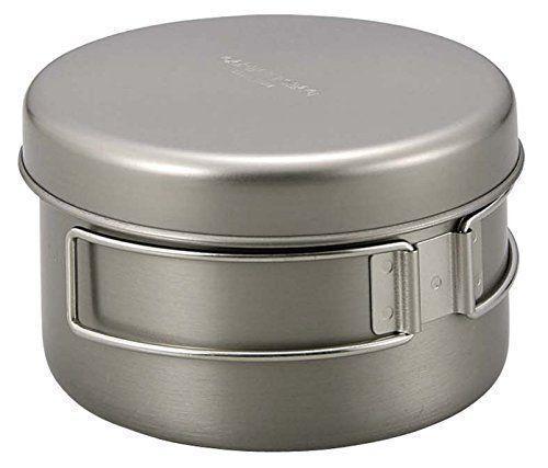 CAPTAIN STAG M-9080 Titanium Mount Mount Titanium Cooker 2 (Pot & Dish) Set Outdoor Goods NEW 0d85fe