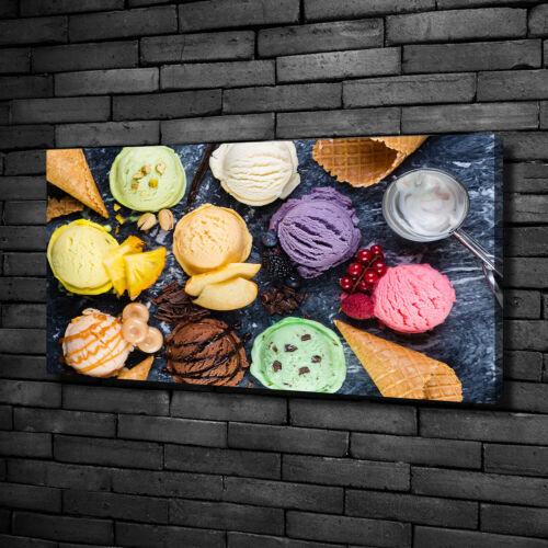 Leinwandbild Kunst-Druck 100x50 Bilder Essen /& Getränke Buntes Eis
