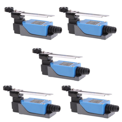 5Pcs Waterproof IP64 Momentary Rotary Roller Lever Limit Switch ME-8108 Blue