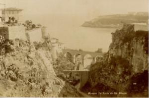 100% De Qualité Monaco Le Ravin De Sainte Dévote Vintage Albumen Print, Carte Cabinet Tirage