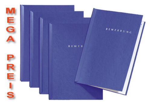 2-teilig inkl Briefumschlägen 50 blaue Bewerbungsmappen von Pagna Typ START
