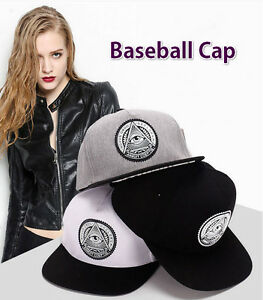 c62566f90a7 Image is loading Gilrs-Boys-Unisex-Head-Illuminati-Eye-Black-Baseball-