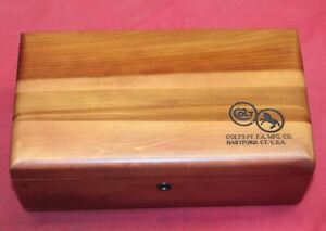 COLT Firearms Wood Box Case