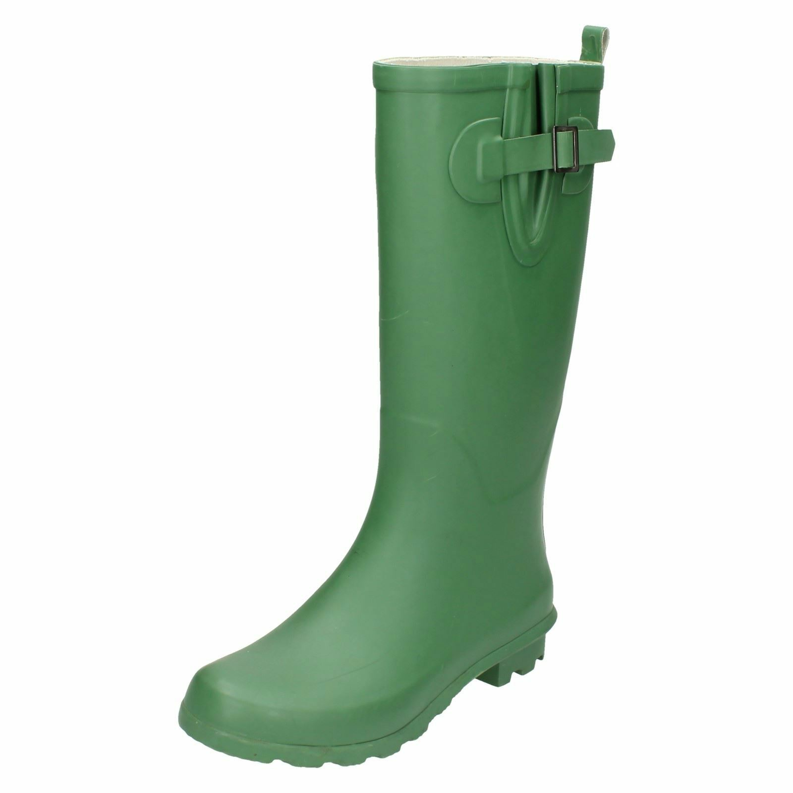 Ladies X1169 green wellingtons by Spot On Retail 19.99