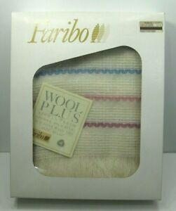 FABRICO-Wool-Plus-Afghan-Throw-Blanket-in-Box-w-Tags-NOS-Mid-Century-50-034-x-60-034
