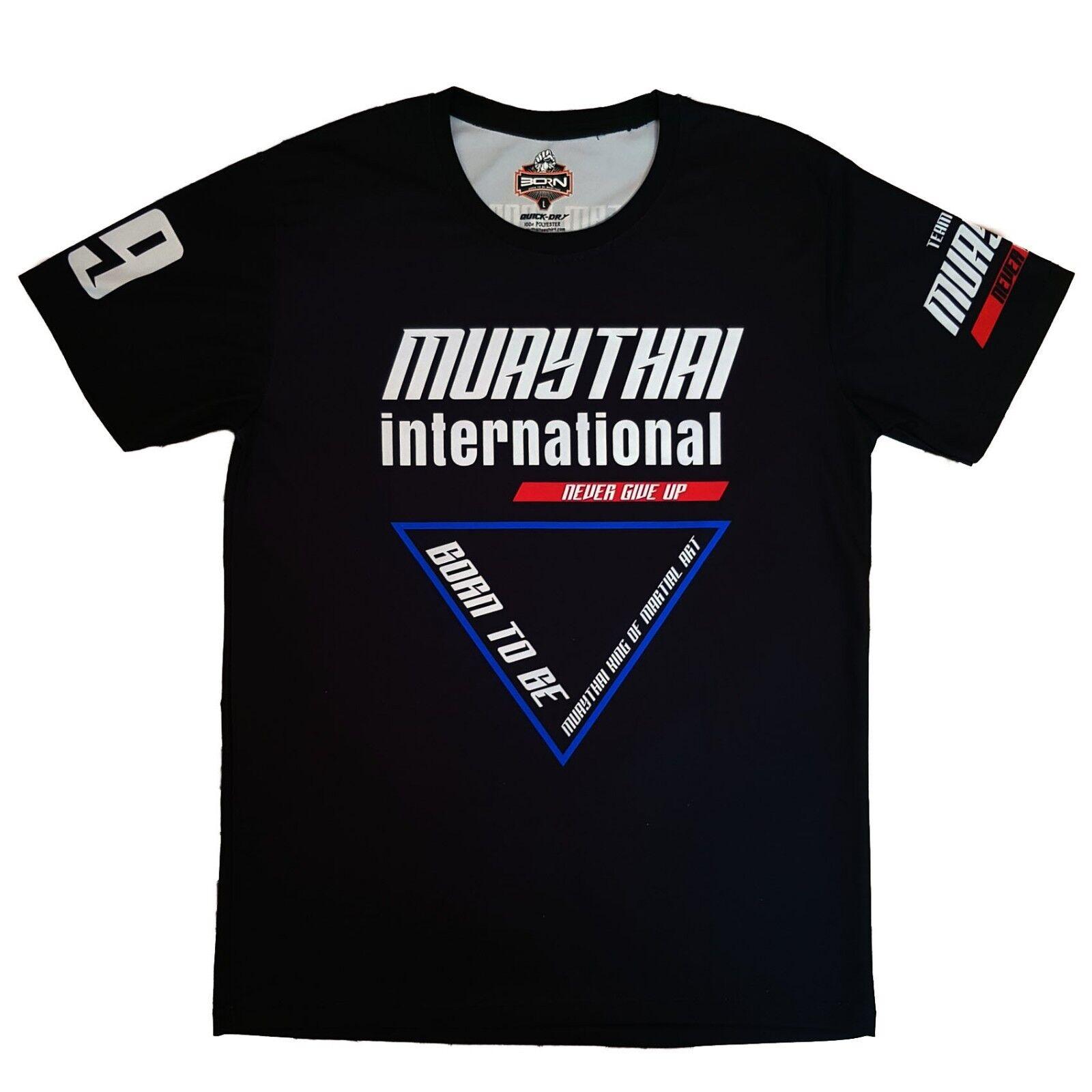 Muay Thai International International International T-Shirt Training Top Muay Thai Boxen Kampf T-Shirt 5da8df