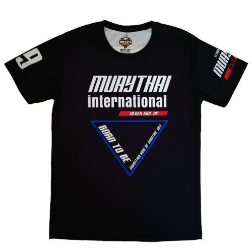 Muay Thai International T-Shirt Haut Entraînement Boxe Muay-Thaï Combat Tshirt