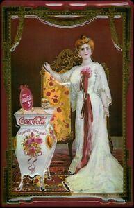Coca-Cola-Nostalgico-Mujer-Letrero-de-Metal-3D-en-Relieve-Cartel-Lata-20-X-30CM