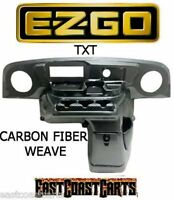 Ezgo Txt Golf Cart Elite Radio Dash Cover Carbon Fiber Weave (free Shipping)
