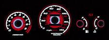 TYPE R RED GLOW 99-00 HONDA CIVIC Si GAUGES JDM EK9 EK FACE OVERLAY FREE SHIP