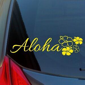 Aloha-Hibiscus-Cluster-vinyl-sticker-decal-car-truck-home-wall-Hawaii-flower