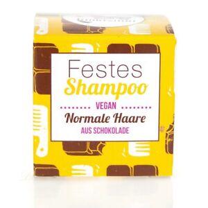 Lamazuna Festes Shampoo Vegan für normales Haar Schokolade 55 g