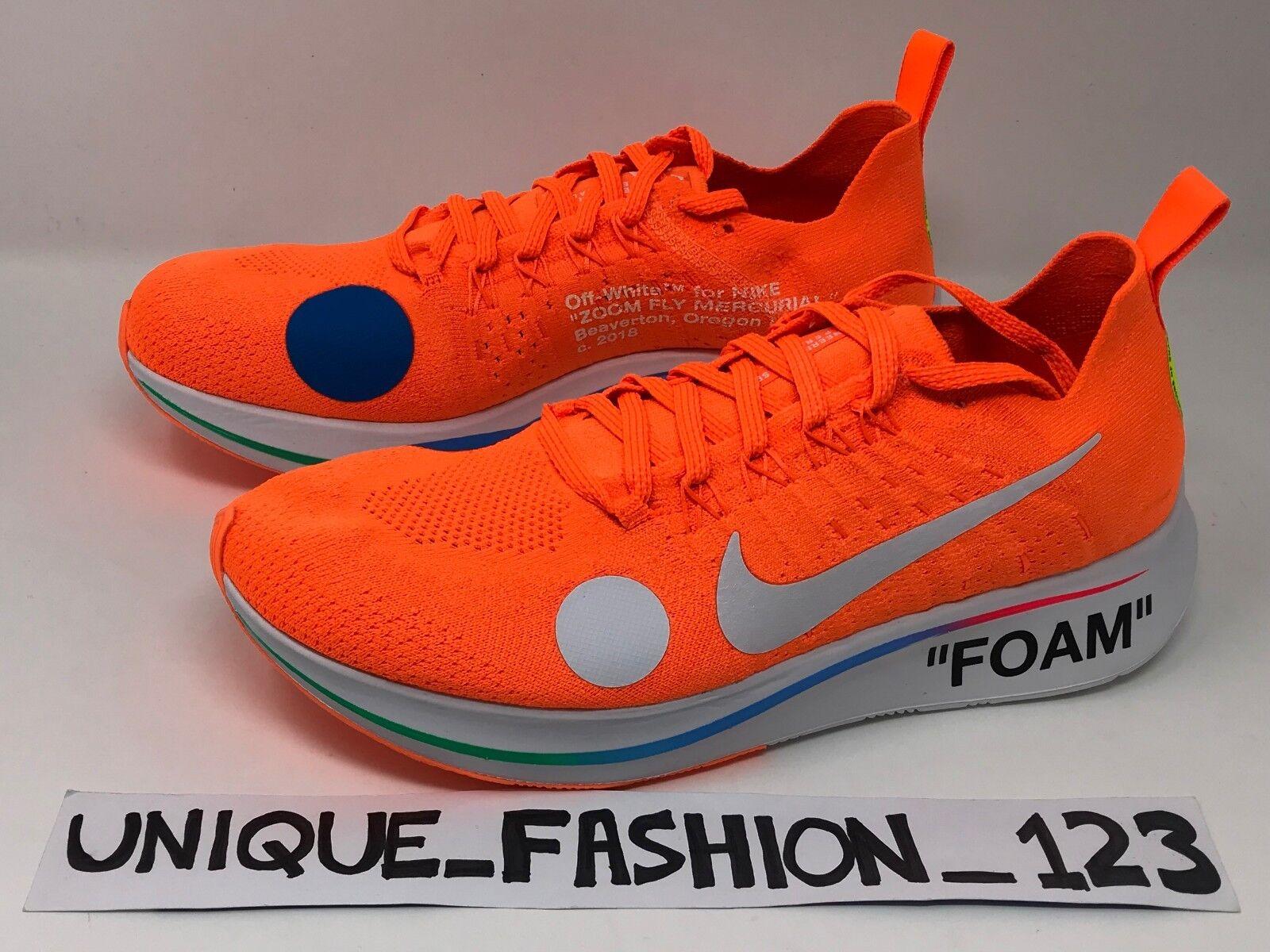 NIKE ZOOM FLY MERCURIAL X OFF WHITE orange FLYKNIT FOOTBALL