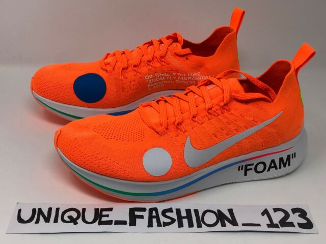 size 40 4353e 0931a NIKE ZOOM FLY MERCURIAL X OFF WHITE UK 5 6 7 8 9 10 11 ORANGE FLYKNIT  FOOTBALL