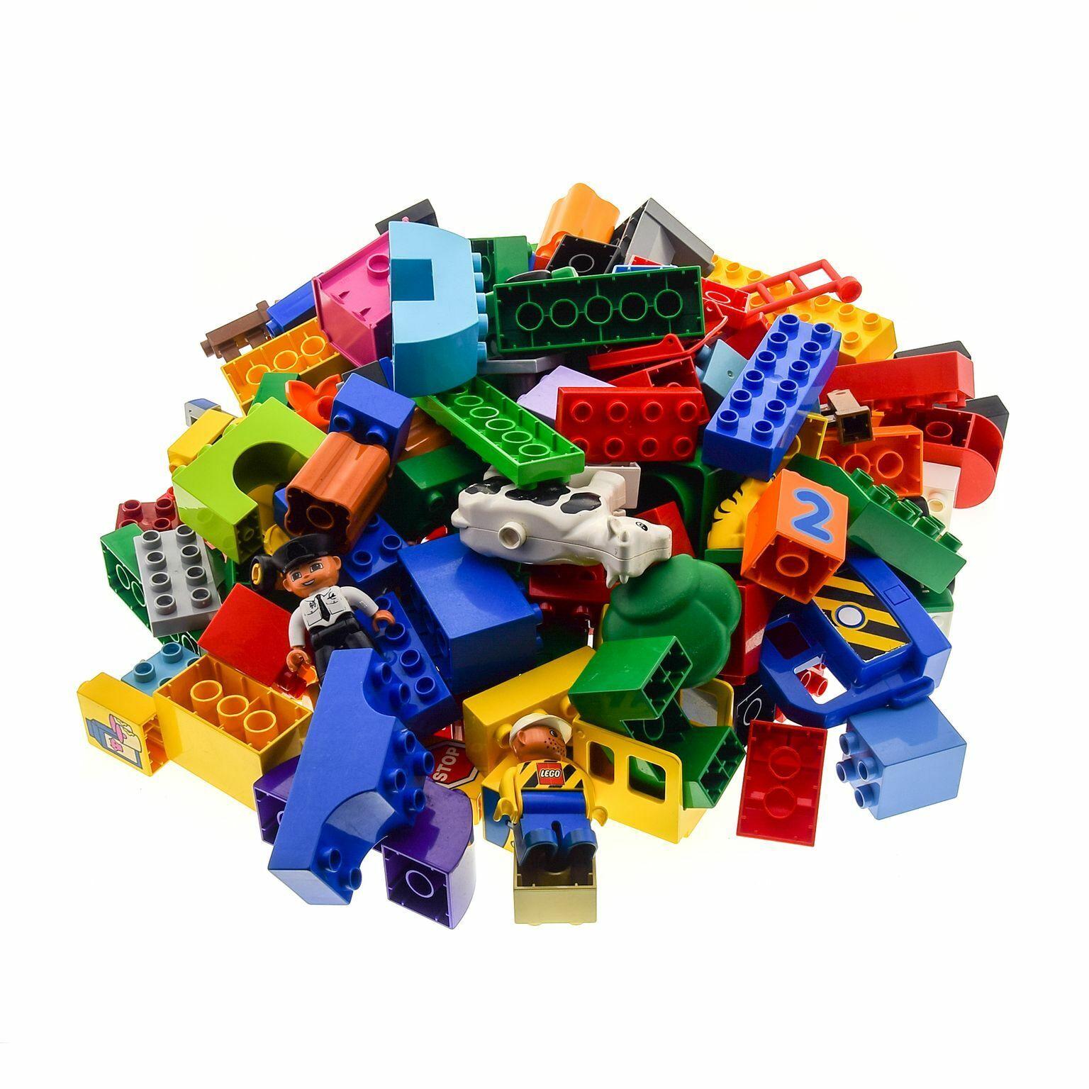 2 Kg Lego Duplo Basic Steine Sondersteine Kiloware gemischt z.B. Pflanzen Autos