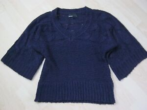 Vero-Moda-Damen-Pullover-3-4-Arm-Gr-L-40-Lila-Violett-Grobstrick