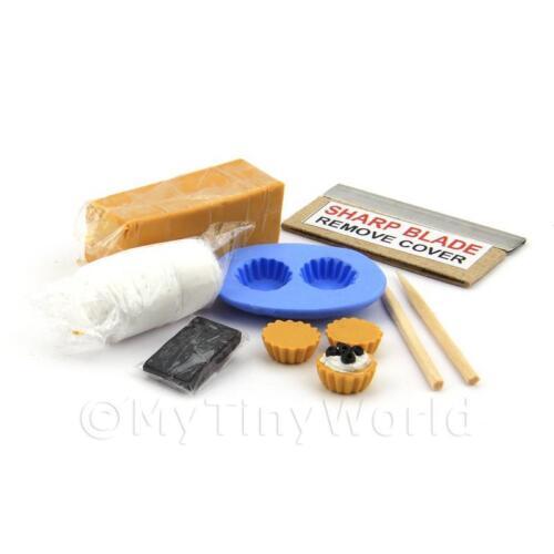 Miniatura Per Casa Delle Bambole Amarena Kit Crostatina Con Stampo In Silicone