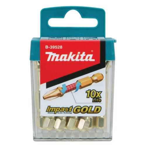Makita B-39540 PZ2 x 50 mm Impact Gold Extreme embouts de Tournevis Torsion Long Life