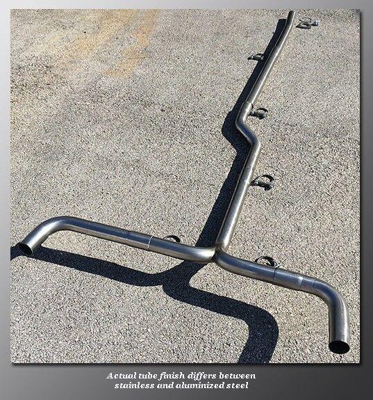 "03-07 Honda Accord Mandrel Dual Exhaust - TruBendz - 2.25"" Aluminized Steel Tube"