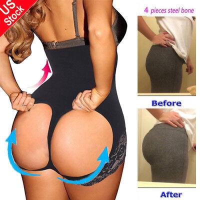 Women Tummy Control Booty Butt Lifter Enhancer Body Shaper Girdle Panty Pants US