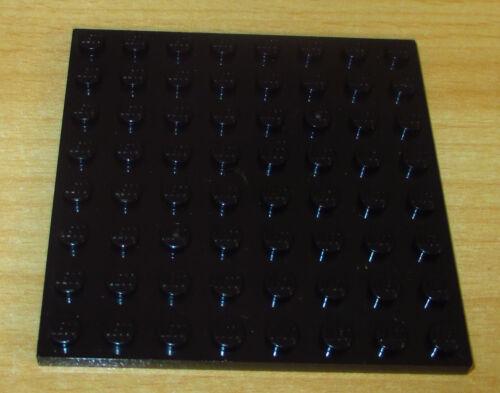 1 Platte 8 x 8 Noppen Lego Basic in Schwarz