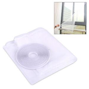 150-x-130cm-Insektenschutz-Moskito-Netz-Insekt-Fenster-Fliegen-weiss-Vorhang-DIY