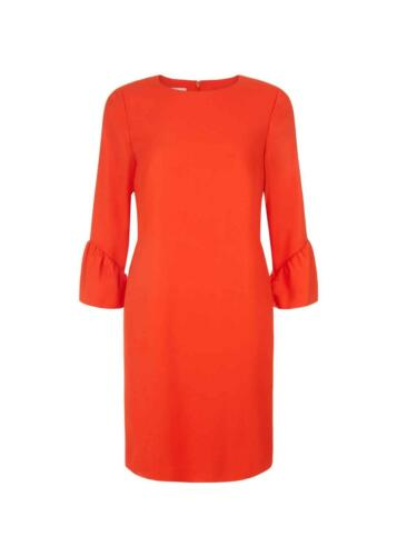 Hobbs Flora Shift robe rouge tomate Taille UK8 RRP139