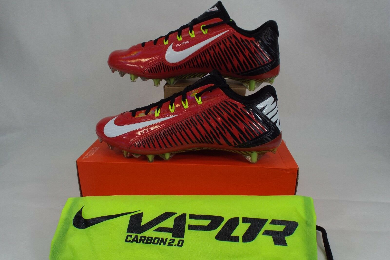 New Mens 11 11 11 NIKE Vapor Carbon ELT 2014 TD Red Black Cleats shoes  160 631425-600 53050a