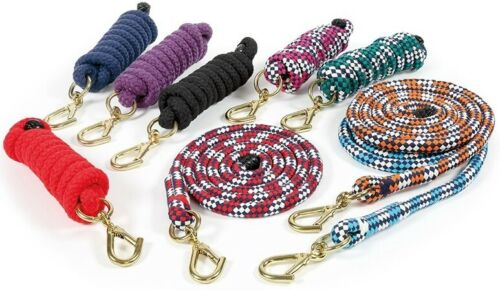 Shires Super Soft Lead Rope Chunky woven polyester makes these leadropes strong