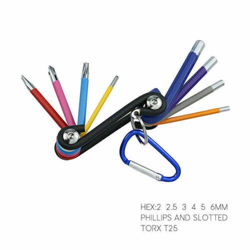 9pcs Hex Key Allen Wrench Set Ball End SAE Metric Star Long Arm Industrial Grade